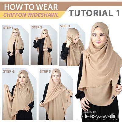 tutorial hijab syar i elegan tanpa ribet coba tutorial hijab syar i yang kurang dari 5