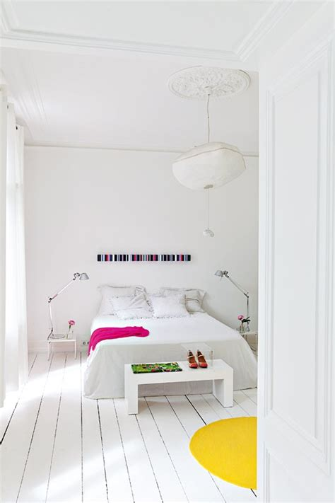 white color bedroom white with color pops panda s house