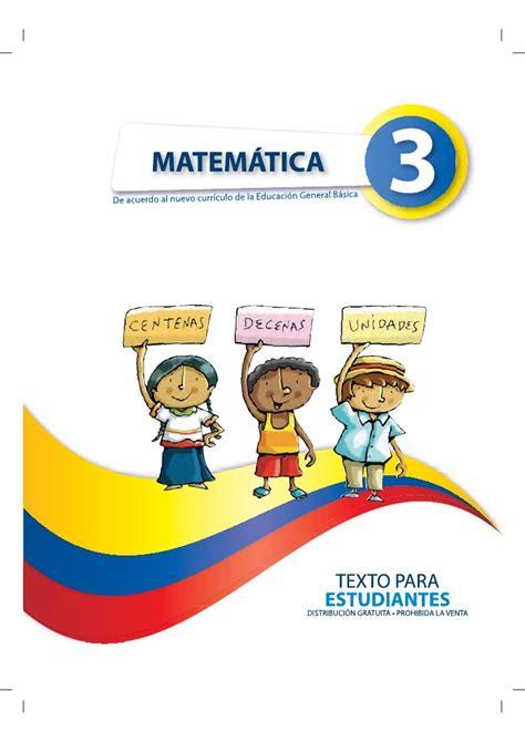 libro de cuarto ao basica ecuador libro matematicas de cuarto de basica ecuador matematica 3 1