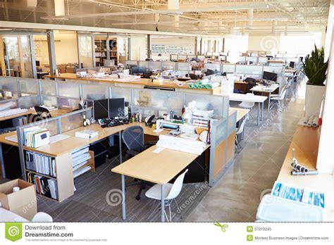 landscape layout in open office empty modern open plan office stock image image of