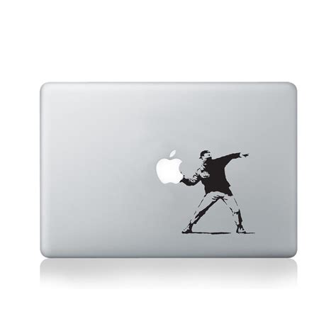 Sticker Laptop Sticker Macbook Sticker Apple Macbook Decal 13 banksy throwing vinyl decal for macbook vinyl revolution