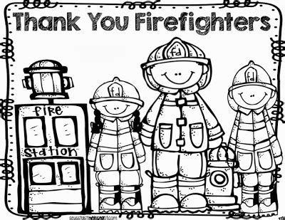 Thank You Fireman Coloring Pages by Seusstastic Classroom Inspirations Safety Freebie
