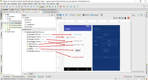 membuat aplikasi hitung android cara membuat aplikasi hitung luas segitiga menggunakan
