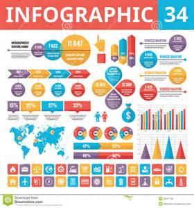 infographic elements 34 set of vector design elements in