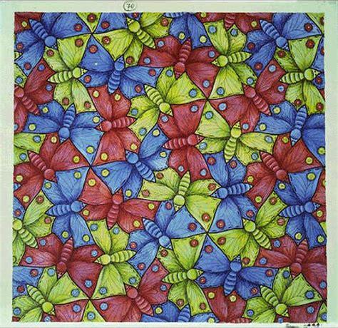 tessellation pattern games escher tessellation butterflies drawing colour shape art