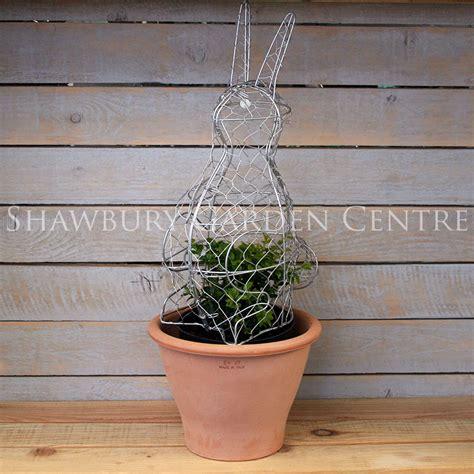 topiary rabbit frame burgon rabbit topiary frame 50cm