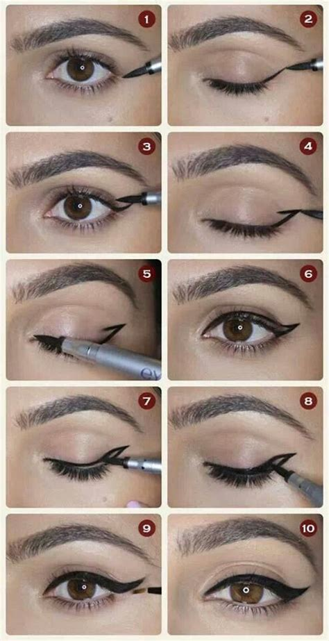 eyeliner tattoo tutorial draw your eyeliner makeup and hair pinterest