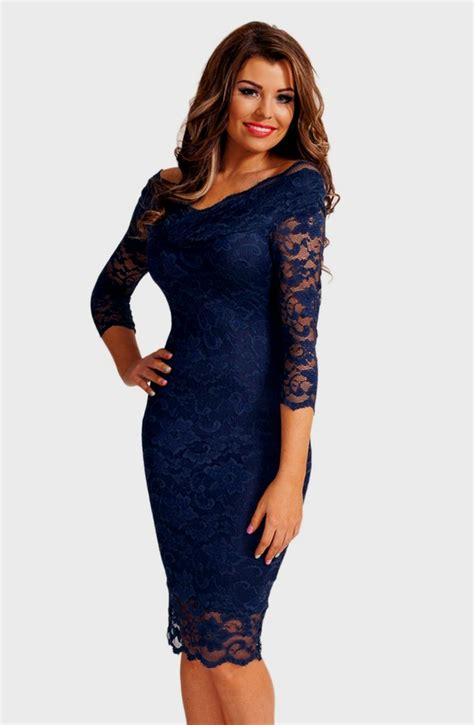 3 4 Sleeve Lace Dress navy blue lace dress 3 4 sleeve naf dresses