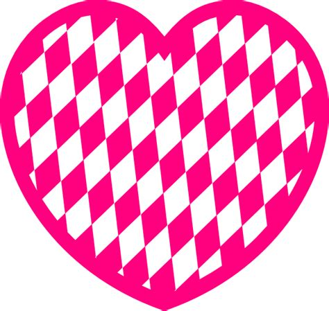 pink pattern clipart pink heart with diamond pattern clip art at clker com