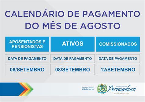 pagamento mes agosto estado paraiba gre garanhuns calend 225 rio de pagamento do m 234 s de agosto