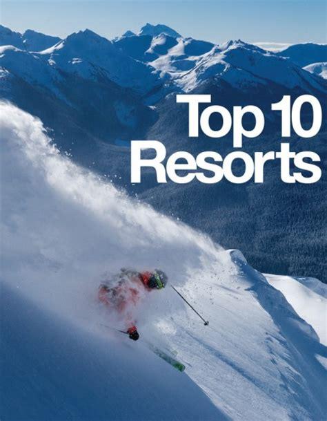 best ski resorts top 10 ski resorts in america by freeskier magazine