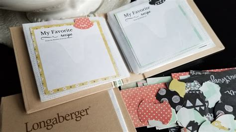 Longaberger Recipe Card Template by Diy Recipe Book With Printable Recipe Cards My Thrifty House