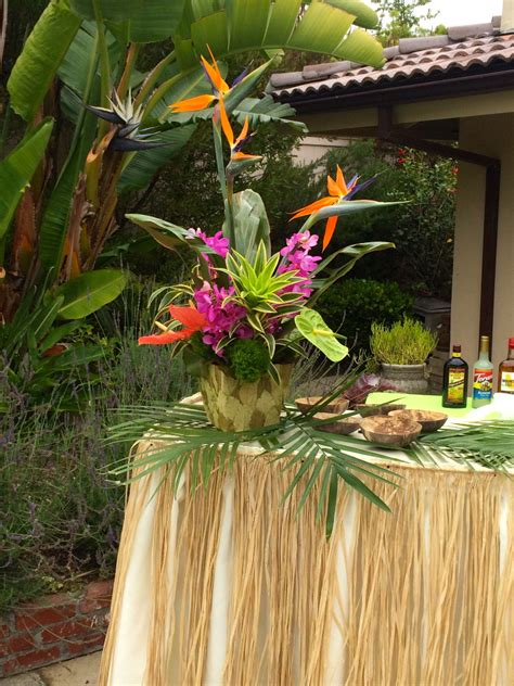 tropical themed events thistle dew floral event design 187 tropical themed party