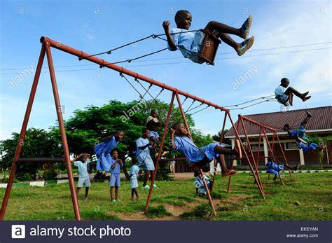 Exles Of Swing Tanzania Bukoba Children Play At Swing Of Playground In
