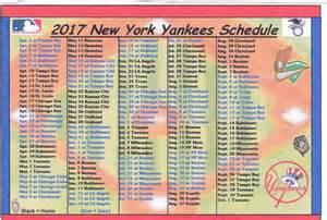 new york yankees 2017 mlb baseball schedule fridge magnet