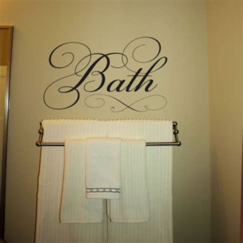 bathroom words simply words bath wall decals trading phrases
