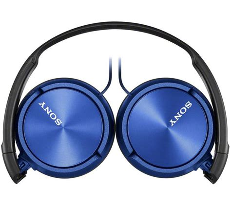 Sony Earphone Mdr Ex150apl Blue buy sony mdr zx310apl headphones blue free delivery currys