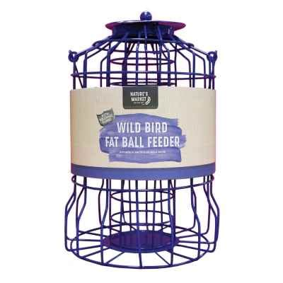 suet fat ball feeder with squirrel guard bonningtons