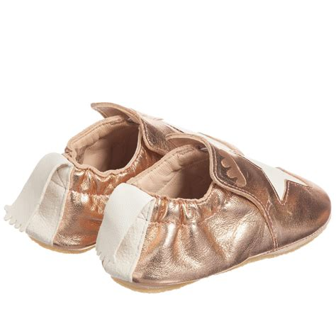 pink slipper shoes easy peasy metallic pink leather blublu slipper