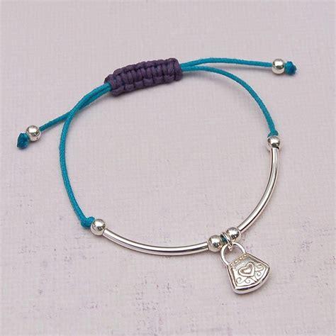 silver charm friendship bracelet indivijewels