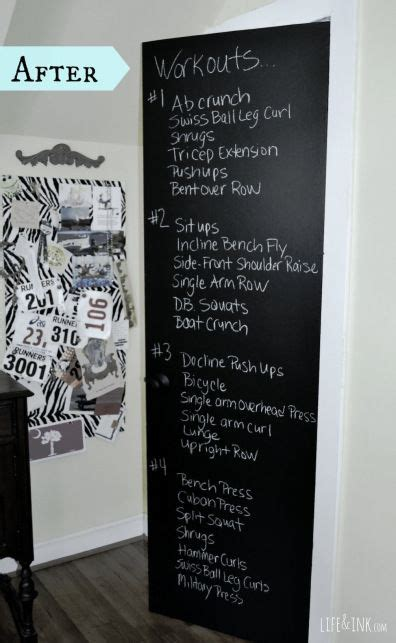chalkboard paint yes or no chalkboard paint in workout room yes great idea to