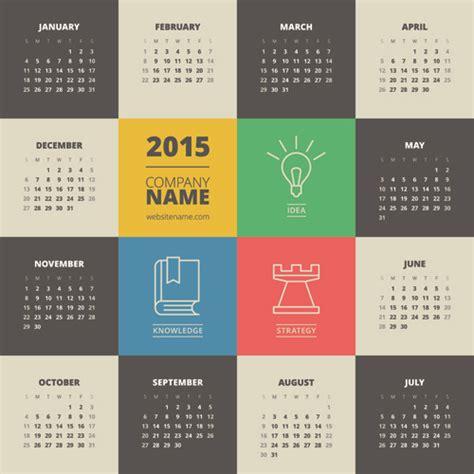 graphic design calendar 2015 2015 business calendar creative design vector free vector