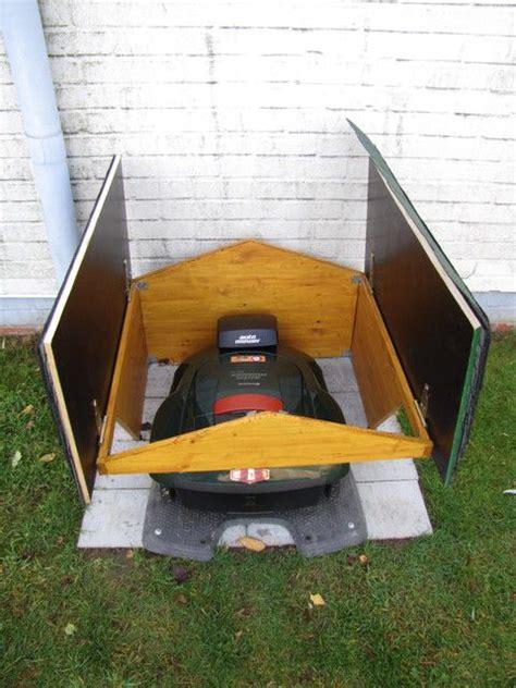 Terasse Aus Holz 2926 by Die Besten 25 Rasenroboter Garage Ideen Auf