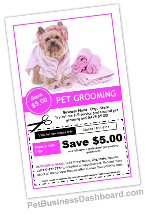 pet grooming business cards templates grooming business templates pinteres