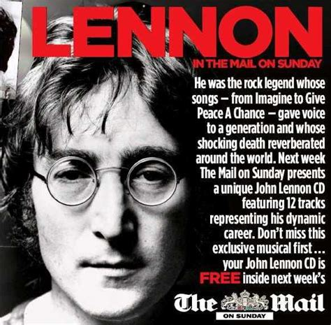 john mail john lennon the mail on sunday newspaper 18th january 2009