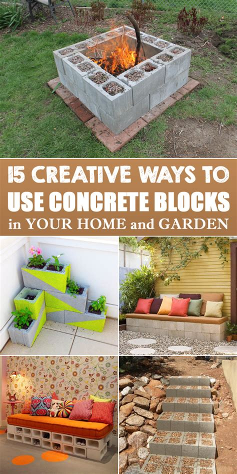home and garden diy projects 15 creative ways to use concrete blocks in your home and garden