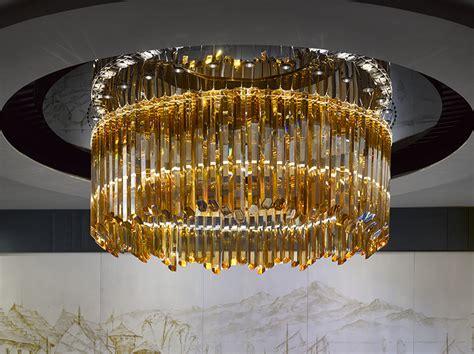 Modern Lighting Chandeliers Mandarin Oriental Jakarta Gets Embellished By Lasvit