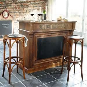 meuble de bar en manguier massif l 132 cm bistrot