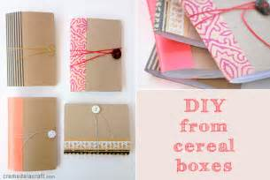diy mini notebook from a cereal box
