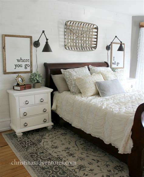 farmhouse style bedding farmhouse bedroom makeover christinas adventures