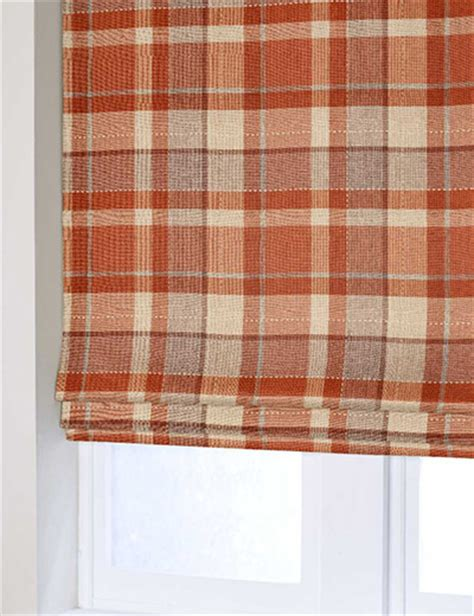 check pattern roller blinds blind details for rustic woven check ginger next made