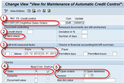 Customer Credit Limit Formula Sap Credit Management Tutorial Ova8