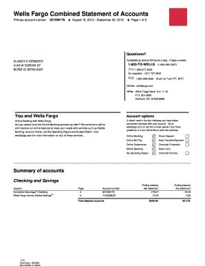 Create Fake Wells Fargo Bank Statement Fill Online Printable Fillable Blank Pdffiller Fargo Bank Statement Template