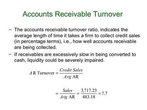 Credit Turnover Days Formula Ratio Analysis