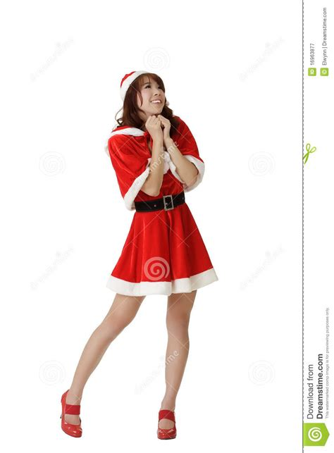 exciting christmas woman praying royalty free stock