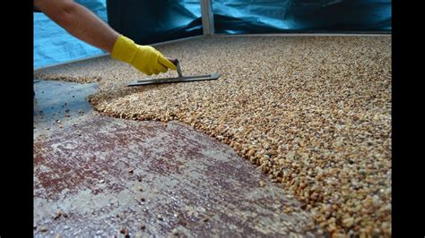 mixing sand with paint for garage floor how to install epoxy flooring