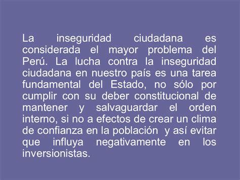 Mba 5050 Tarea 2 2 by El Rol De La Polic 237 A Nacional Per 250 La Inseguridad