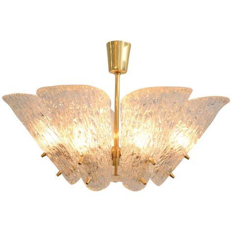 white textured l shade kalmar vienna brass chandelier with white textured glass