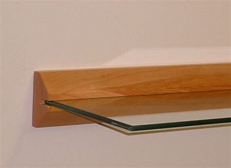 Wall Mounted Floating Shelves Floating Shelf Wood And Glass In Wall Mounted Shelves