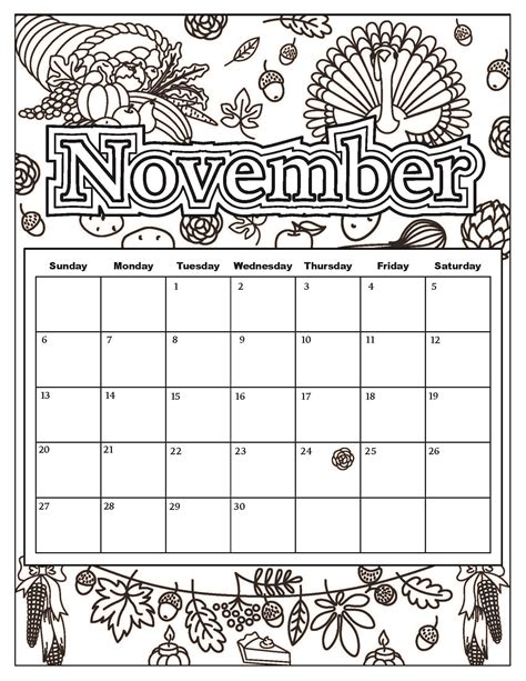 coloring page for november free download coloring pages from popular adult coloring
