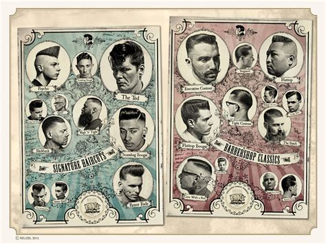 vintage haircut chart a barber shop in netherlands called quot schorem haarsnijder