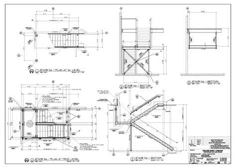 stair plan drawing sles