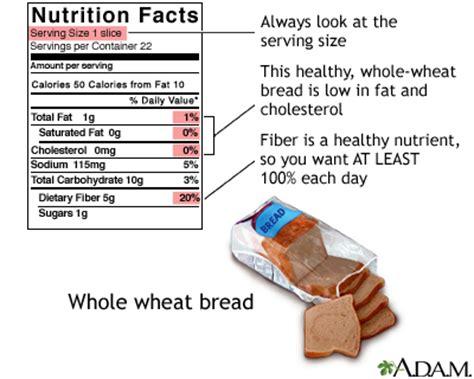 whole grain bread zinc food label guide for whole wheat bread medlineplus