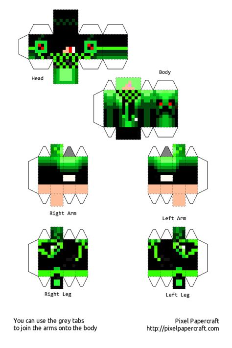 Minecraft Papercraft Boy - boy green minecraft template by saria4 on deviantart