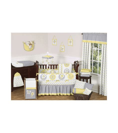 sweet jojo designs crib bedding sweet jojo designs mod garden 9 piece crib bedding set