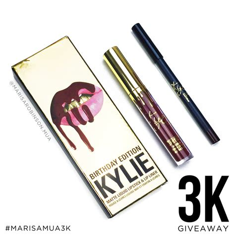 3k Giveaway - 3k giveaway kylie cosmetics birthday edition leo lip kit marisa robinson